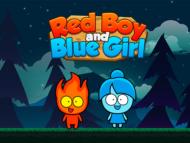 ילד אדום וילדה כחולה